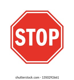 Vector Stop Sign Icon. red stop sign for your web site design, logo, app, UI. stop traffic symbol. traffic regulatory warning stop symbol.