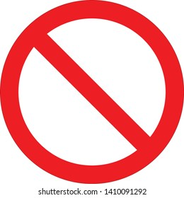 Vector stop sign icon. Red no entry sign. No sign, red warning isolated. General Prohibition Sign. Vector Image.