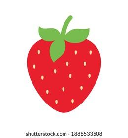 Vector Strawberry Flat Design Illustration