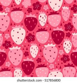 Vector strawberry seamless pattern