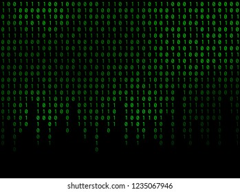 Vector streaming binary code background.