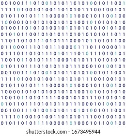 Vector streaming binary code background for Big Data and technology, hacker concept illustration, coding, decryption and encryption. Matrix wallpaper. 10 eps