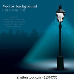 Vector Streetlight at Night