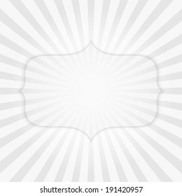 Vector striped background with transparent badge.