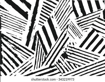 Vector striped pattern. Grunge black-white background.
