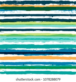 vector striped summer pattern. Paint Lines Seamless background. ink brush strokes. colorful stripes for swimming close, polo or T-shirt Modern hipster paintbrush line. spring stripes girly backdrop