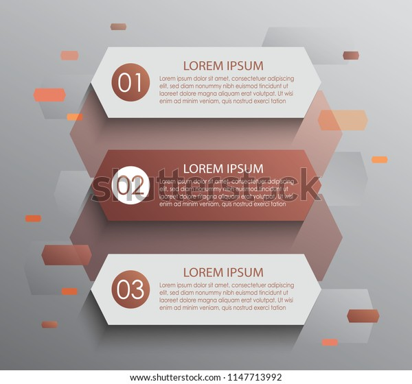 Vector stripes for infographic. Template for diagram, graph, presentation and chart