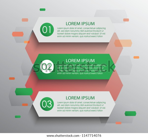 Vector stripes for infographic. Template for diagram, graph, presentation and chart. Business concept with 3 options, parts, steps or processes