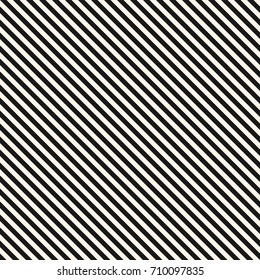 Vector stripes seamless pattern. Thin diagonal lines texture, 45 degrees inclination. Modern abstract geometric background. Black and white. Simple striped template. Universal repeat design element