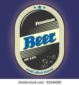 vector strong beer label