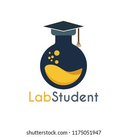 Vector Student Lab Logo Template Design. You can make brand identity or symbols for your school, medical, health and laboratory company. Logo Student Lab. Logo School Lab. Logo Laboratory Company.