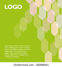 Vector style template for you identity. Place logo and text. Easy for edit.
