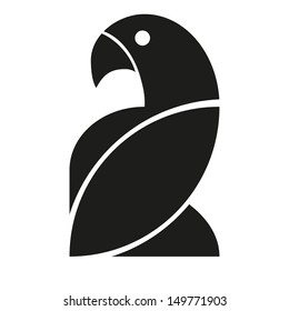 Vector Stylish Abstract Silhouette Bird Icon