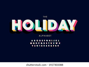 Vector of stylized holiday alphabet and font