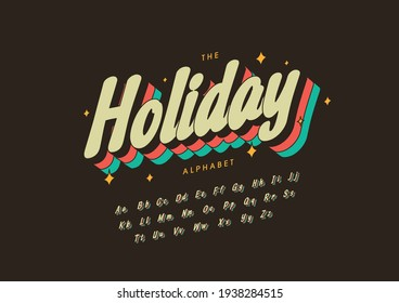 Vector of stylized holiday alphabet and font - Shutterstock ID 1938284515