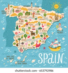 Spain Map Images, Stock Photos & Vectors | Shutterstock