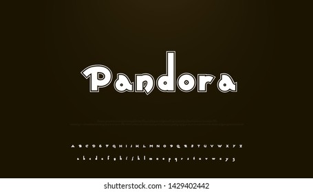 Vector of stylized modern font and alphabet. Perfect for greeting cards, branding materials, business cards, quotes, posters, websites, merchandise, packaging, invites and more! - Shutterstock ID 1429402442