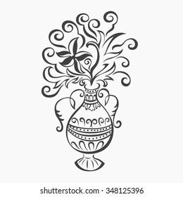 vector stylized vase