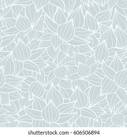 Vector succulent plant texture drawing seamless pattern background. Great for subtle, botanical, modern backgrounds, fabric, scrapbooking, packaging, invitations.