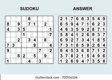 Sudoku Answers Images Stock Photos Vectors Shutterstock