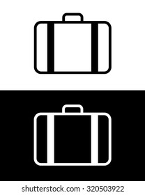 Vector Suitcase Graphic in Black and Reverse