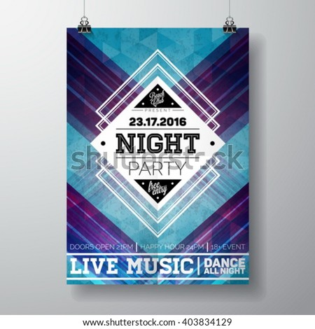 vector summer beach party flyer poster stock vector royalty free