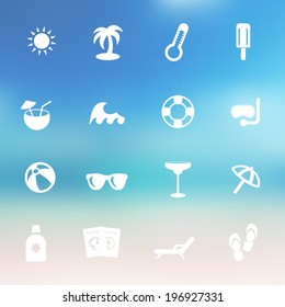 Vector summer icon set