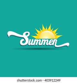 vector summer label. summer icon with sun. summer background