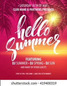 Vector summer party poster background