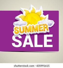 vector summer sale sticker . summer sale banner or label for design