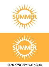 Vector Summer Sun Emblem