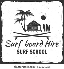 Vector Summer surfing retro badge. Surfing concept for shirt or logo, print, stamp.