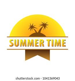 Vector Summer Time Holiday typographic illustration.