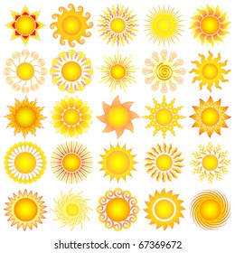 vector sun collection