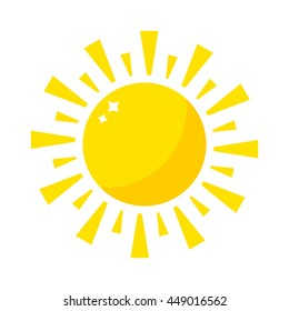 Vector sun icon isolated on background