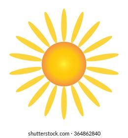 Vector sun. Illustration
