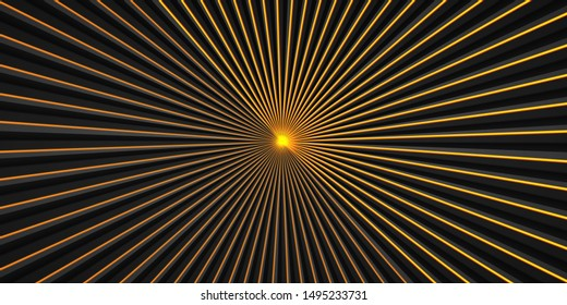 Vector sun rays yellow background