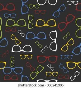 Vector sunglasses pattern