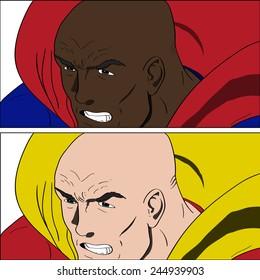 Vector Super hero face