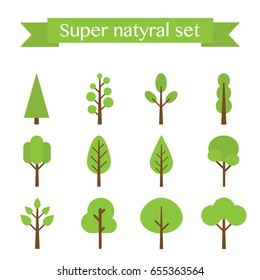 Vector super set of flat trees.