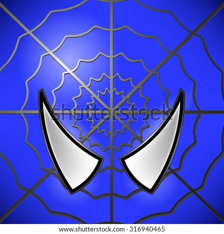 Vector Superhero Blue Icon