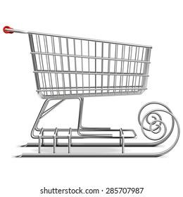Vector Supermarket Sled