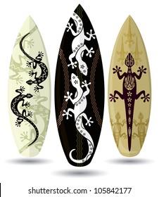 Vector surf boards ( Tattoo design )