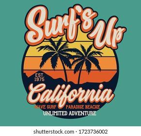 vector surf illustrations for t shirt print