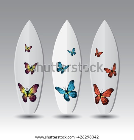 vector surfboard design templates stock vector royalty free
