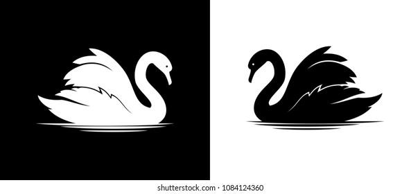 Vector swan silhouette