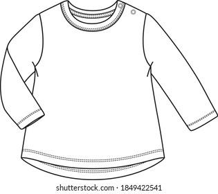 Vector sweatshirt design for baby girl.