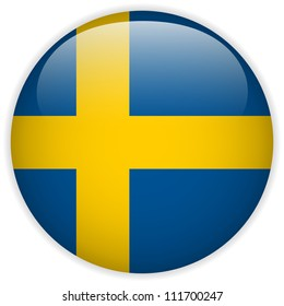 Vector - Sweden Flag Glossy Button