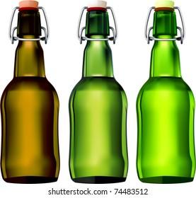 vector swing top beer bottles