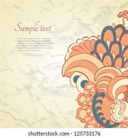 Vector swirl leaf oriental background